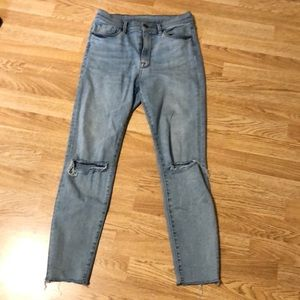 BDG distressed skinny jeans.